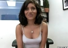 Pretty breasty MILF Maya Bazin having an interracial fun