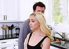 Blonde girl Jane Wilde gets her cunt pounded in the kitchen