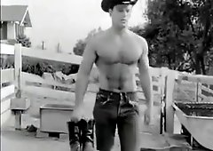 Vintage gay studs fucking bareback until hot cum erupts 10 months Retro gay dude spreads legs for an