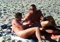 Exotic amateur voyeur, handjob, beach adult movie