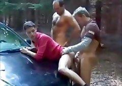 Gay hitch hiking truckie