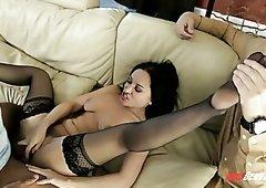 Fervent flexible bitch Gabriella Paltrova is fucked missionary really hard