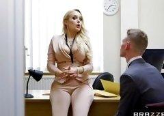 Busty Blonde Sucks Her Coworker's Cock