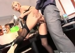 Cute breasty youthful slut Donna Bell is blowing my cock