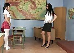 This sexy little whore is very naughty so her teacher will teach her a lesson