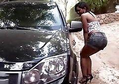Sexy Brazilian ebony receives hard anal pounding and anal fisting
