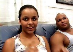 Amazing pornstar in horny threesomes, black and ebony sex movie