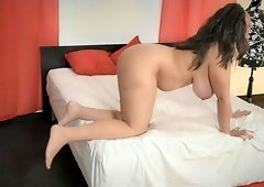 Anastasia Lux gets pounded roughly while her tits bounce up and down