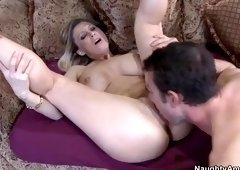 Marvelous buxomy Devon Lee having her anal filled