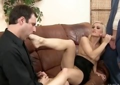 Blonde porn video featuring Ash Hollywood