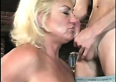 Curvy MILF Dana Hayes gets down to give a wicked sick POV blowjob