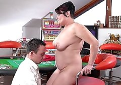 Chubby babe Dolly Bee gets her cunt pounded by a horny guy