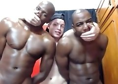 Interracial cumshots for horny white hunk