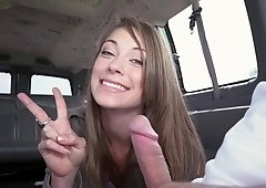 Blue eyed babe likes to suck dick