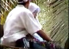 Nice amateur voyeur video with horny Pakistani couple in the park