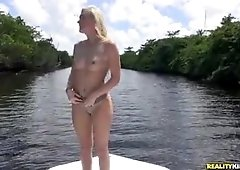 Jessie Young takes a ride on the boat getting fucked on a sunny day!