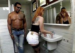 Irina Vega and her GF arrange dirty interracial foursome sex