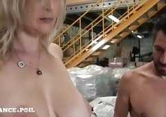Winsome breasty experienced lady featuring blow job video in outdoor