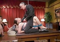 Xander Corvus & Aiden Starr & Kimber Woods & Roxanne Rae in Horny Whores Holiday Orgy - TheUpperFloor