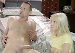 Kenzie Reeves is a cute blonde fucked by a hunk in front of a brunette