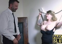 Madison Stewart's man milk crawing satified by a dominative stud