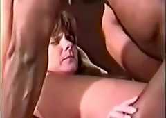 Vintage video of hot wife fucking BBC in hotel room