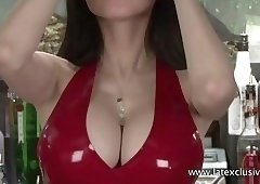 Lilly - Red Latex Halterneck Top