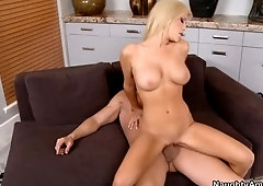 Juicy breasty Tasha Reign having a wonderful face cumshot