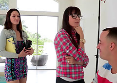 Photographer Dana Dearmond and her assistant Sarah Shevon can't resist big cock