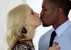 A black dude penetrates a hot milf in a cuckold scene today