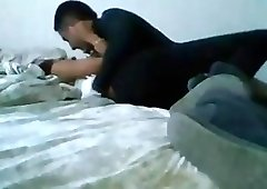 Iranian slut bangs with her boy toy hard and fast