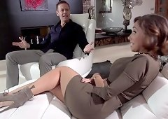Stunning lady Malena craves to make a couple of dicks hard