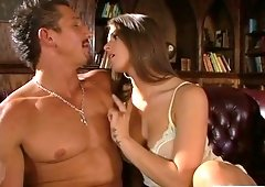 Candlelight threesome sex with Rachel Roxxx and her jaw dropping girlfriend