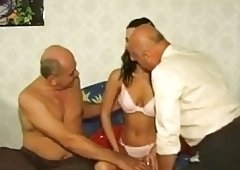 young girl threesome with old man