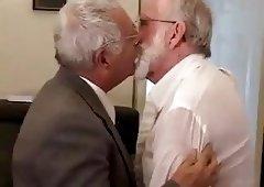 Two grandpa kisses