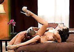 Chick in heels flexible as he fucks her