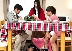 Horny Japanese wife uses a young cock to fulfill her needs