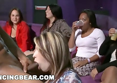 DANCING OTTER - Super-Naughty CFNM Soiree With Insatiable, Insane Girls Going Rock-Hard