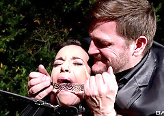 Kinky and submissive Sophia Laure gets her ass and throat ravaged