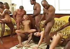 Dora Venter Interracial orgy
