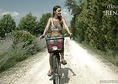 Precious Hungarian babe Amirah Adara gets her anus fucked after riding her bicycle