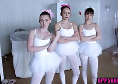 Red-Hot ballerina teenagers taught to drill by their educator