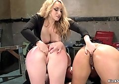 Huge jugs domme butt sex fucks lesbians