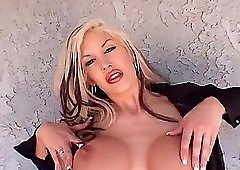 Busty blonde Michelle Mclaren loves bouncing on a boner