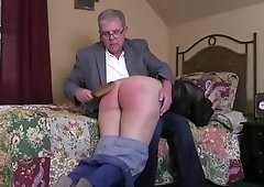 Teen Audrey Getting Spanked