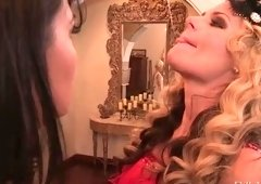 Foot fetish porn video featuring Dana Vespoli and Phoenix Marie